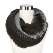 Mixit™ Short Fringed Loop Scarf