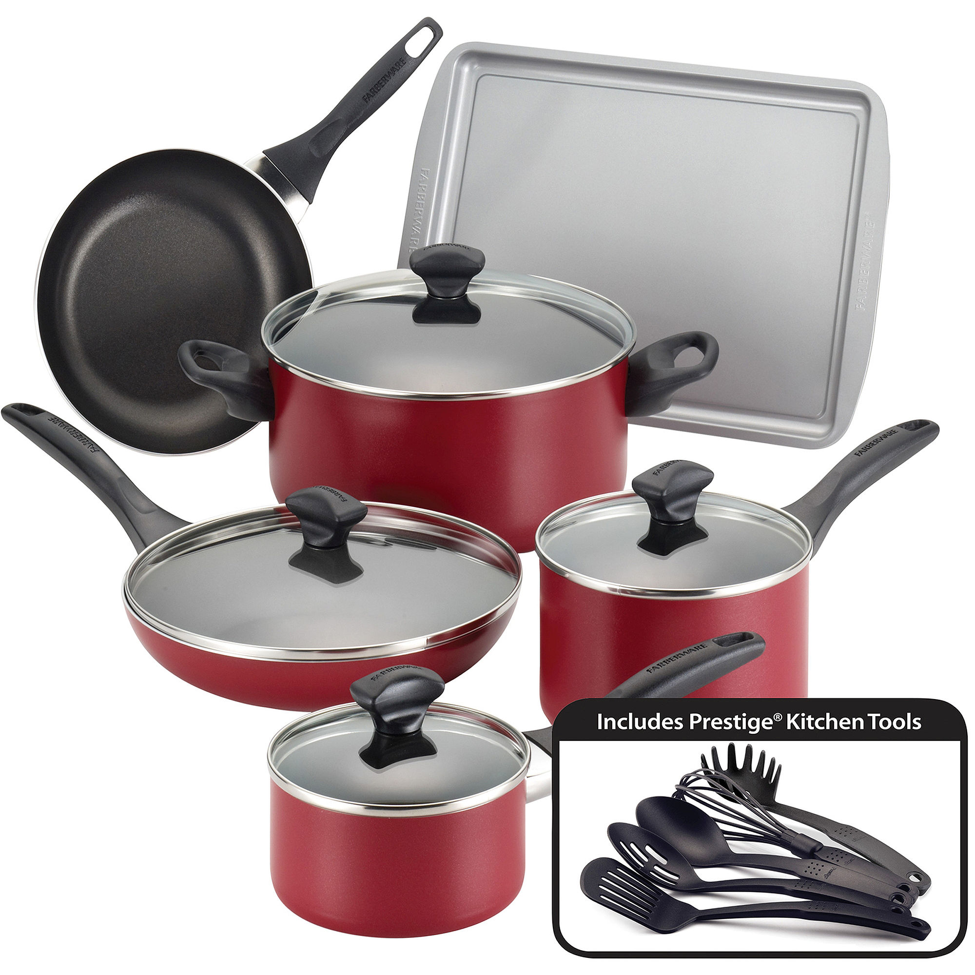 Deals farberware classic series 15 piece stainless steel for Kitchen set classic
