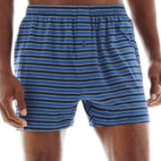 Stafford® Striped Knit Cotton Boxers