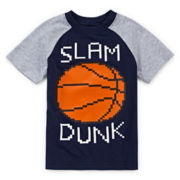 Okie Dokie® Raglan Graphic Sports Tee - Toddler Boys 2t-5t