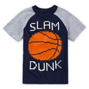 Okie Dokie® Raglan Graphic Sports Tee - Toddler Boys 2t-5t