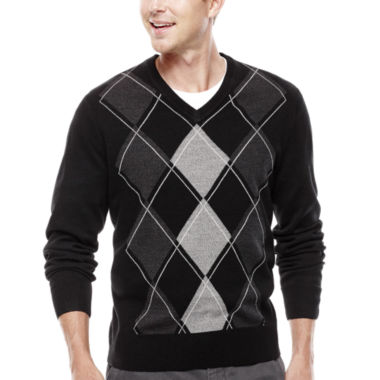 jcpenney.com | Dockers® V-Neck Argyle Pullover Sweater