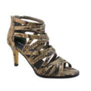 Michael Antonio Fiffer Caged Snake-Print Sandals