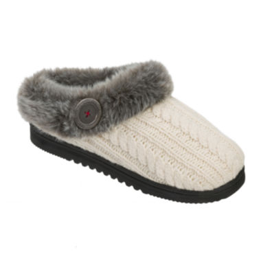 jcpenney.com | Dearfoams® Cable Knit Clog Slippers
