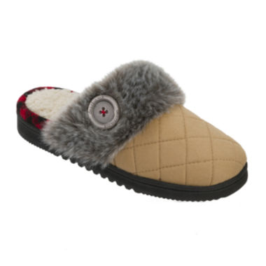 jcpenney.com | Dearfoams® Quilted Microsuede Closed-Toe Scuff Slippers