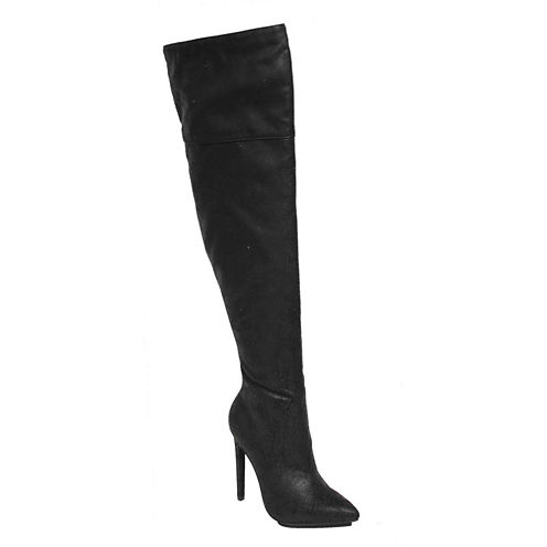 Michael Antonio Womens Woosey Over-The-Knee Boots