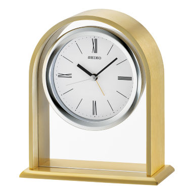 jcpenney.com | Seiko White Table Clock-Qhe134flh