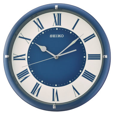 jcpenney.com | Seiko Blue White Wall Clock-Qxa669llh