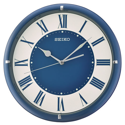 Seiko Blue White Wall Clock-Qxa669llh