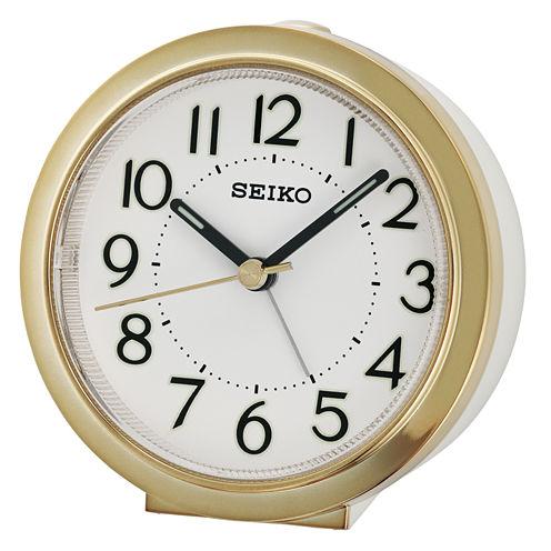 Seiko White Alarm Clock-Qhe146glh