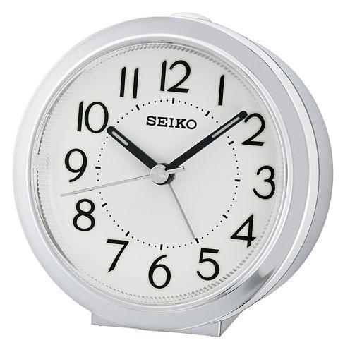 Seiko White Alarm Clock-Qhe146slh