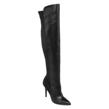 jcpenney.com | Style Charles Paris Pointed-Toe Over-the-Knee Boots