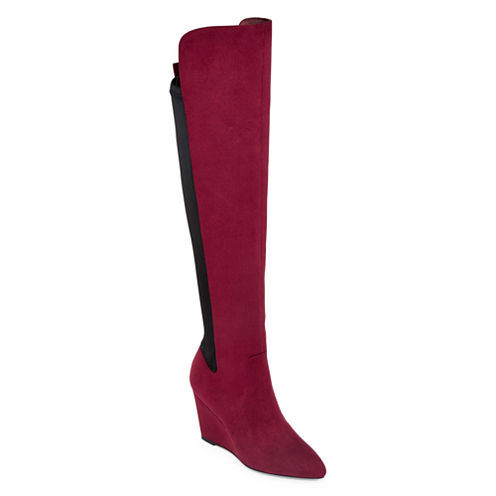 Style Charles Earl Over-the-Knee Wedge Boots