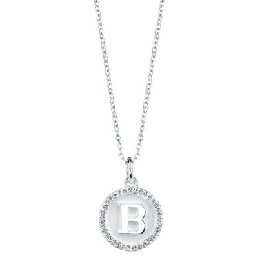 jcpenney.com | Sparkle Allure Womens Crystal Silver Over Brass Pendant Necklace