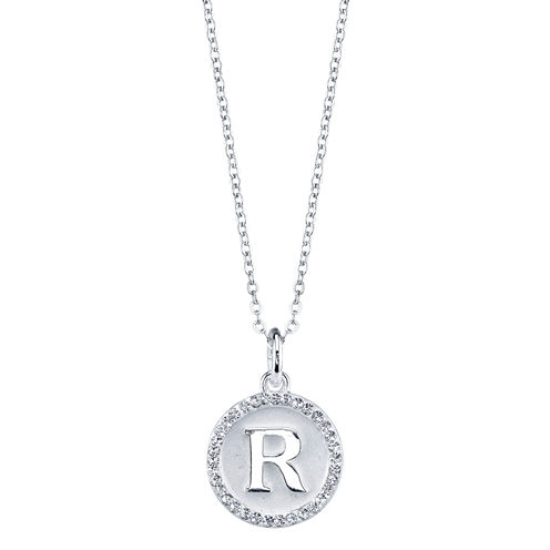 Sparkle Allure Womens Crystal Silver Over Brass Pendant Necklace