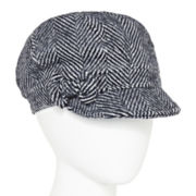 August Hat Co. Herringbone Newsboy Hat with Bow