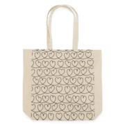 Heart Scroll Canvas Tote