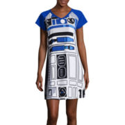 Disney Collection Star Wars Short-Sleeve R2D2 Nightshirt