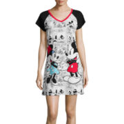 Disney Collection Short-Sleeve Minnie and Minnie Mouse Nightshirt