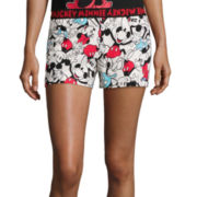 Disney Collection Mickey and Minnie Mouse Pajama Shorts