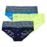 XOXO® 3-pk. Lace Bikini Panties