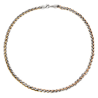 jcpenney.com | Mens Stainless Steel Rose Ip-Plated Chain Necklace