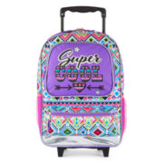Kids Aztec Character Multi-Print Rolling Backpack