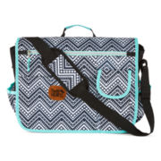 Kids Aztec Character Black and White Chevron Messenger Bag