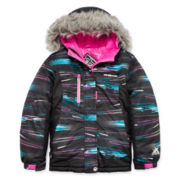 ZeroXposur® Snow Board Leena Long-Sleeve Faux-Fur Hooded Jacket - Girls