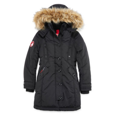 jcpenney.com | Canada Weather Gear Black Stadium Parka - Girls 7-16