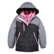 ZeroXposur® Systems Boa Long-Sleeve Faux-Fur Hooded Jacket - Girls
