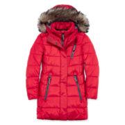 Rothschild Long-Sleeve Hooded Puffer Vest - Girls