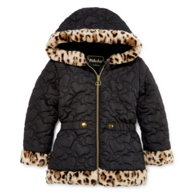 jcpenney.com | Pistachio Heart Quilted Animal-Print Jacket - Preschool Girls 4-6x