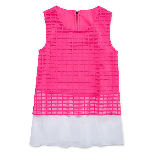 Total Girl® Sleeveless Lace Peplum Top - Girls 7-16 and Plus