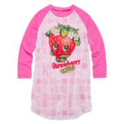 Shopkins Long-Sleeve Kiss Kiss Raglan Sleep Shirt - Girls 4-12
