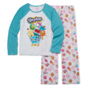 Shopkins 2-pc. Raglan Pajama Set - Girls 4-12