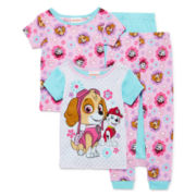 NickelodeonTM 4-pc. Paw Patrol Pajama Set - Girls
