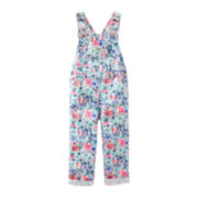 OshKosh B'gosh® Navy Floral-Print Overalls - Baby Girls newborn-24m
