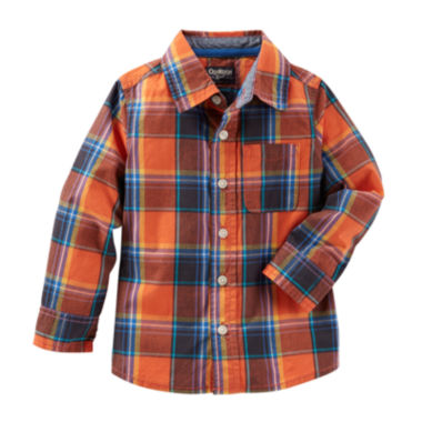 jcpenney.com | OshKosh B'gosh® Long-Sleeve Orange Woven Shirt - Toddler Boys 2t-5t