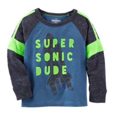 jcpenney.com | OshKosh B'gosh® Blue Knit Shirt - Boys 4-14