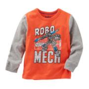 Oshkosh B'gosh® Raglan-Sleeve Robot Knit Shirt - Baby Boys 3m-24m