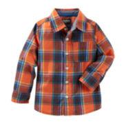 Oshkosh B'gosh® Long-Sleeve Plaid Button-Front Shirt - Baby Boys 3m-24m
