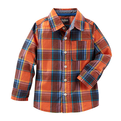 Oshkosh B'gosh® Long-Sleeve Plaid Button-Front Shirt - Baby Boys 3m-24m