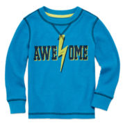 Arizona Long-Sleeve Graphic Thermal Tee - Toddler Boys 2t-5t