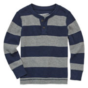 Arizona Long-Sleeve Striped Thermal Tee - Toddler Boys 2t-5t