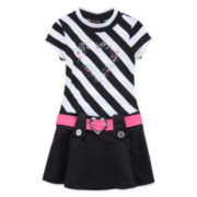 Lilt Short-Sleeve Striped Marsha Dress - Toddler Girls 2t-4t