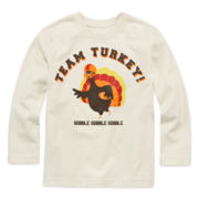 Okie Dokie® Long-Sleeve Thanksgiving Tee - Toddler Boys 2t-5t