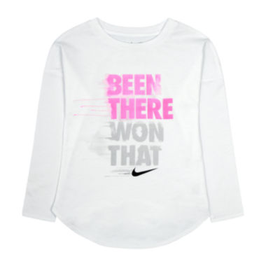 jcpenney.com | Nike® Long-Sleeve Been There Won That Tee - Preschool Girls 4-6x