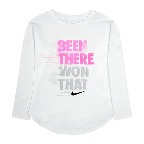 Nike® Long-Sleeve Been There Won That Tee - Preschool Girls 4-6x