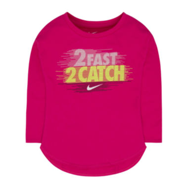 jcpenney.com | Nike® Short-Sleeve 2 Fast Tee - Toddler Girls 2t-4t